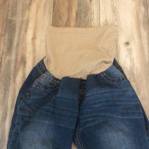 Denim - Full Panel Maternity Jeans / Capris
